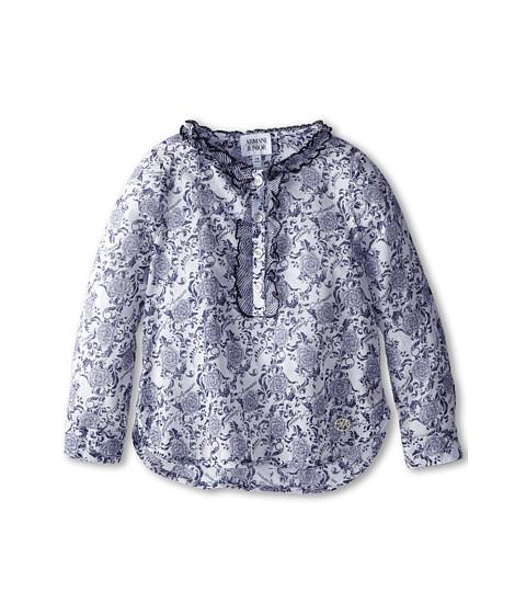 Armani Junior - Floral Flowy Long Sleeve Top (Toddler/Little Kids/Big Kids) (Patterned) Girl
