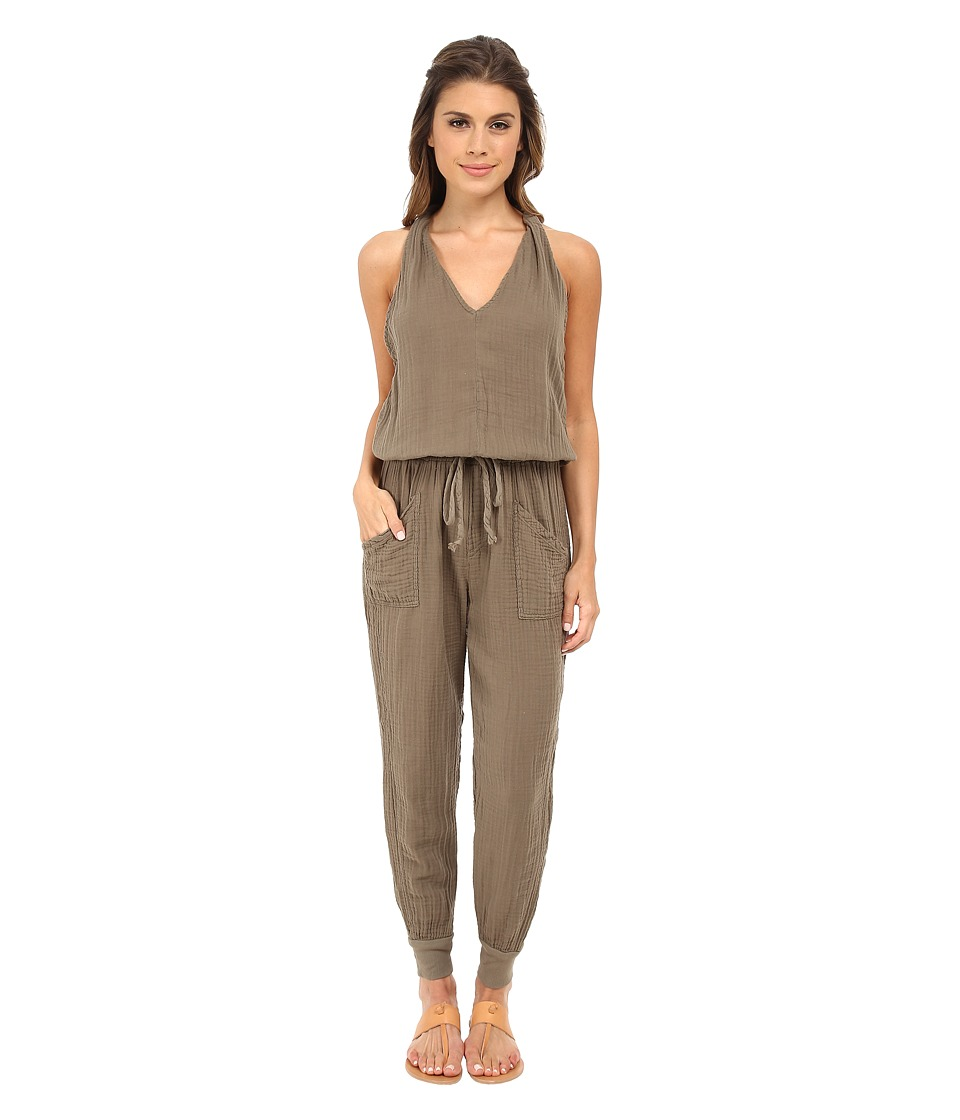 Michael Stars - Double Gauze Twisted Strap Jumpsuit (Caper) Women