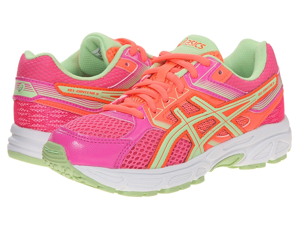 ASICS Kids - Gel-Contend 3 GS (Little Kid/Big Kid) (Hot Pink/Pistachio/Hot Coral) Girls Shoes
