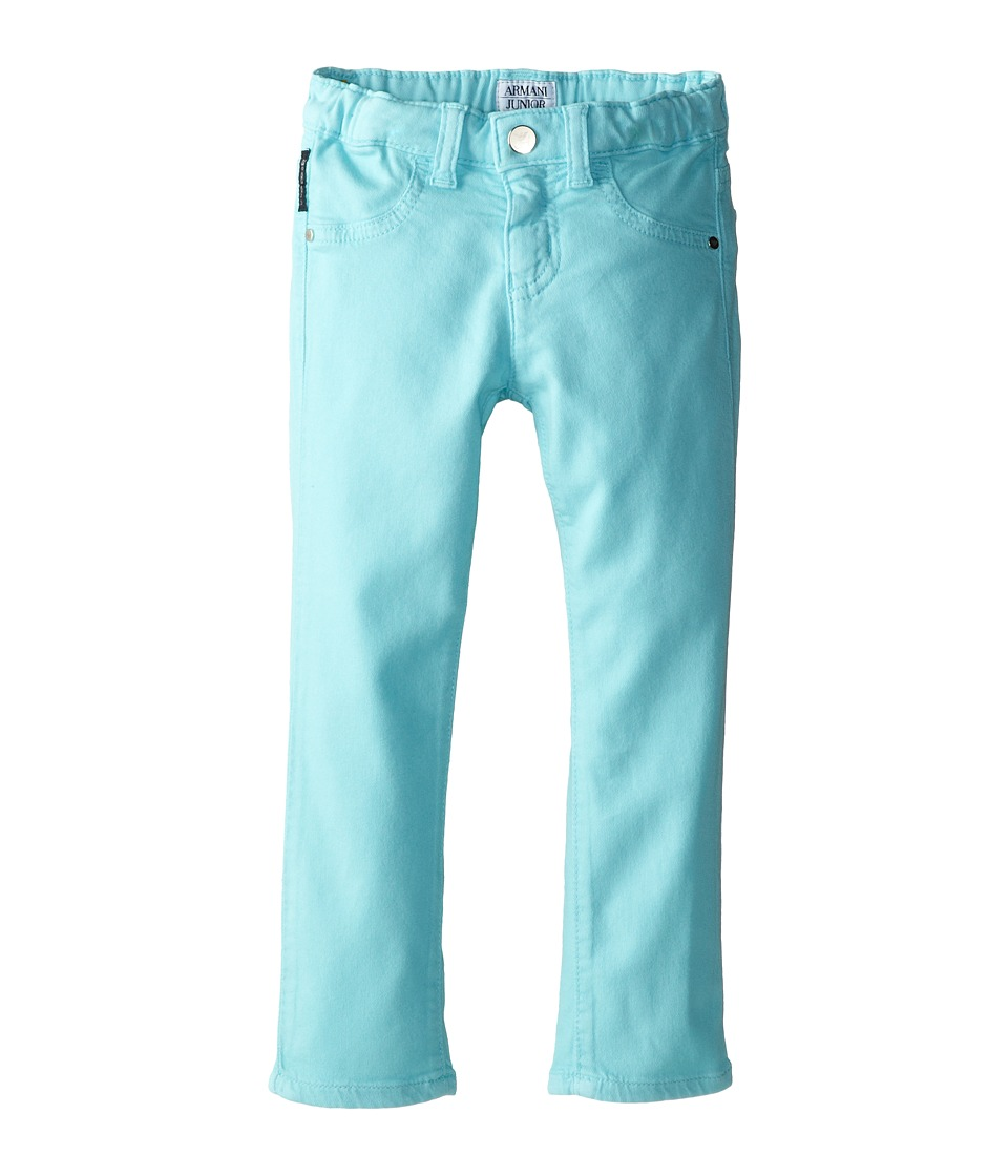 Armani Junior - Stretch Jegging (Toddler/Little Kids) (Light Blue) Girl's Casual Pants