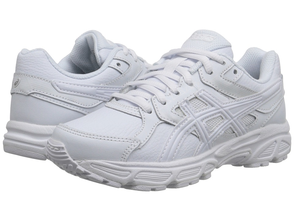 ASICS Kids - Gel-Contend 3 GS Leather (Little Kid/Big Kid) (Triple/White/Snow) Kids Shoes