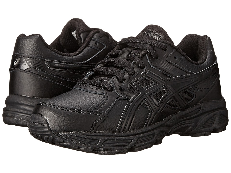 ASICS Kids - Gel-Contend 3 GS Leather (Little Kid/Big Kid) (Triple/Black/Onyx) Kids Shoes