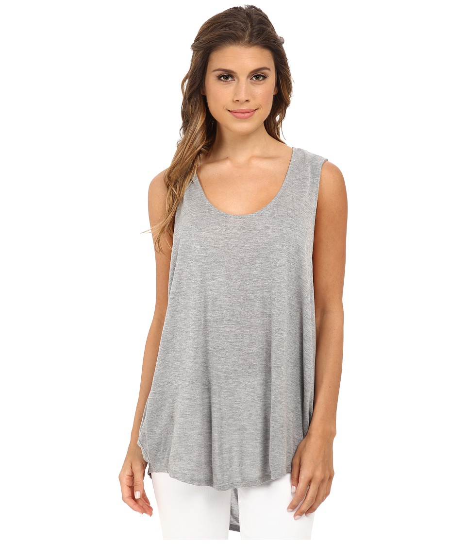 Michael Stars - Micro Modal Jersey Sleeveless Scoop Neck Tank Top (Heather Grey) Women