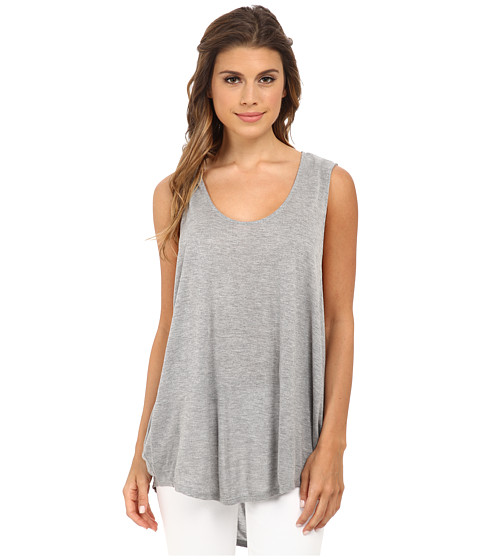 Michael Stars - Micro Modal Jersey Sleeveless Scoop Neck Tank Top (Heather Grey) Women's Sleeveless
