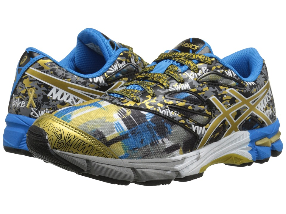 ASICS Kids - Gel-Noosa Tri 10 GS GR (Little Kid/Big Kid) (Black/Gold/Gold Ribbon) Boys Shoes