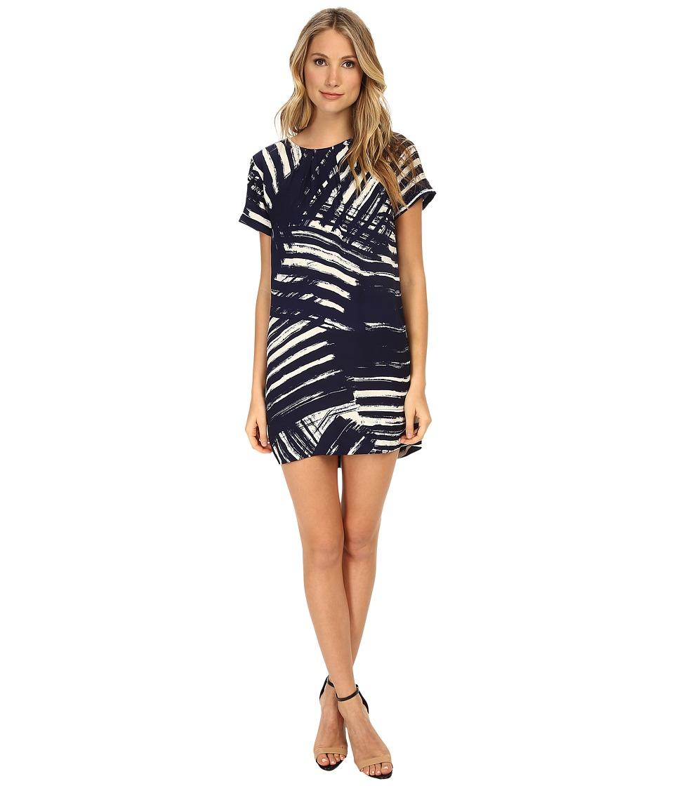 Michael Stars - Scratch Print Shift Dress (Navy/Ivory) Women's Dress