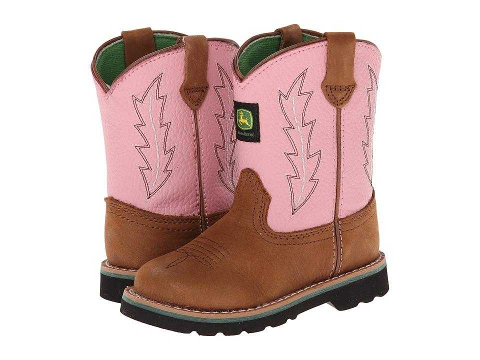 John Deere Kids - Classic Pull-On (Toddler) (Tan) Cowboy Boots