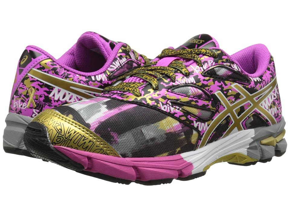 ASICS Kids - Gel-Noosa Tri 10 GS GR (Little Kid/Big Kid) (Pink Glow/Gold/Gold Ribbon) Girls Shoes