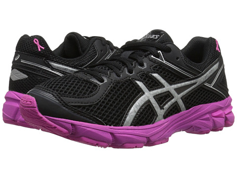 ASICS Kids - GT-1000 4 GS PR (Little Kid/Big Kid) (Black/Silver/Pink Ribbon) Boys Shoes