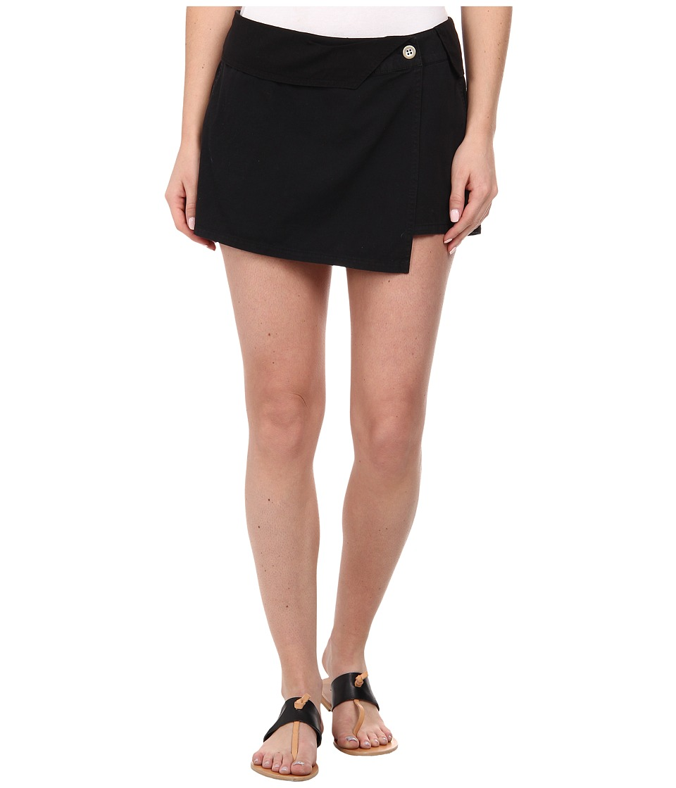Michael Stars - Cotton Twill Asymmetrical Wrap Skort (Black) Women's Skort