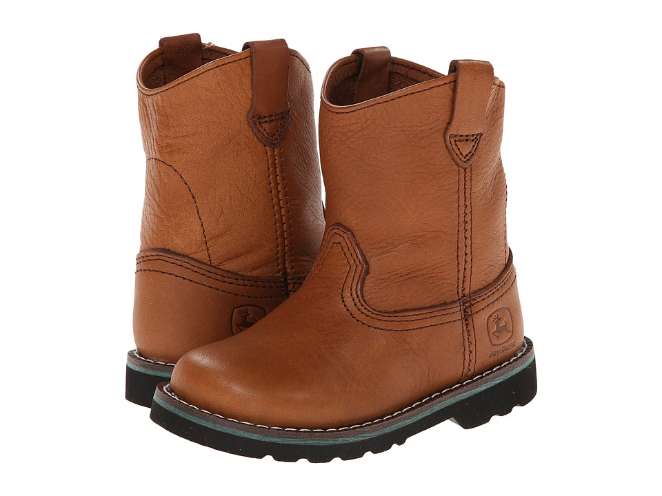 John Deere Kids - Unlined Pull-On (Toddler) (Brown) Cowboy Boots
