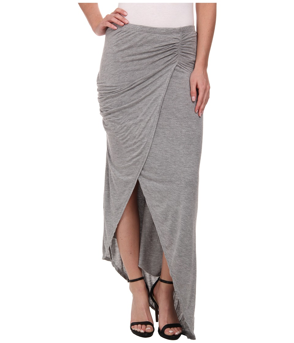 Michael Stars - Collection Draped Skirt w/ Asymmetrical Hem (Heather Grey) Women