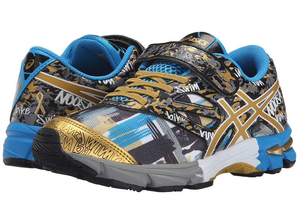 ASICS Kids - Gel-Noosa Tri 10 PS GR (Toddler/Little Kid) (Black/Gold/Gold Ribbon) Boys Shoes