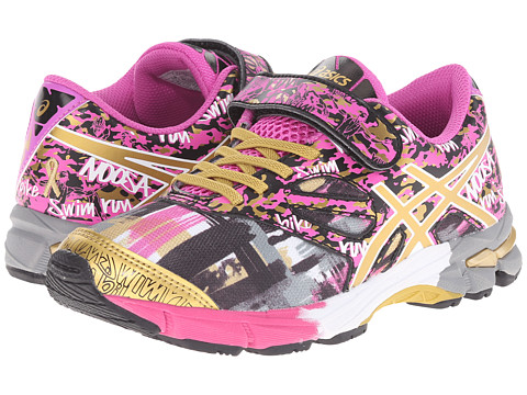 ASICS Kids - Gel-Noosa Tri 10 PS GR (Toddler/Little Kid) (Pink Glow/Gold/Gold Ribbon) Girls Shoes