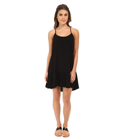 Michael Stars - Modern Rayon Spaghetti Strap Cross Back Dress (Black) Women's Dress