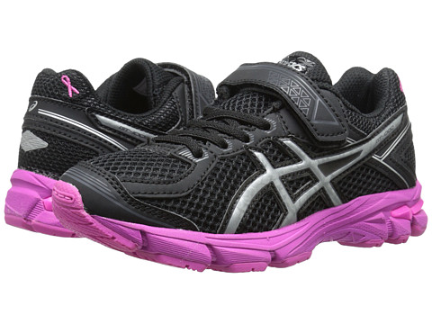 ASICS Kids - GT-1000 4 PS PR (Toddler/Little Kid) (Black/Silver/Pink Ribbon) Boys Shoes