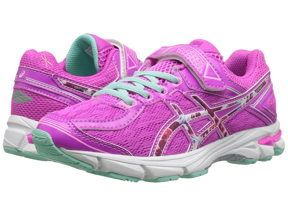 ASICS Kids - GT-1000 4 PS PR (Toddler/Little Kid) (Pink Glow/Hot Pink/Pink Ribbon) Girls Shoes