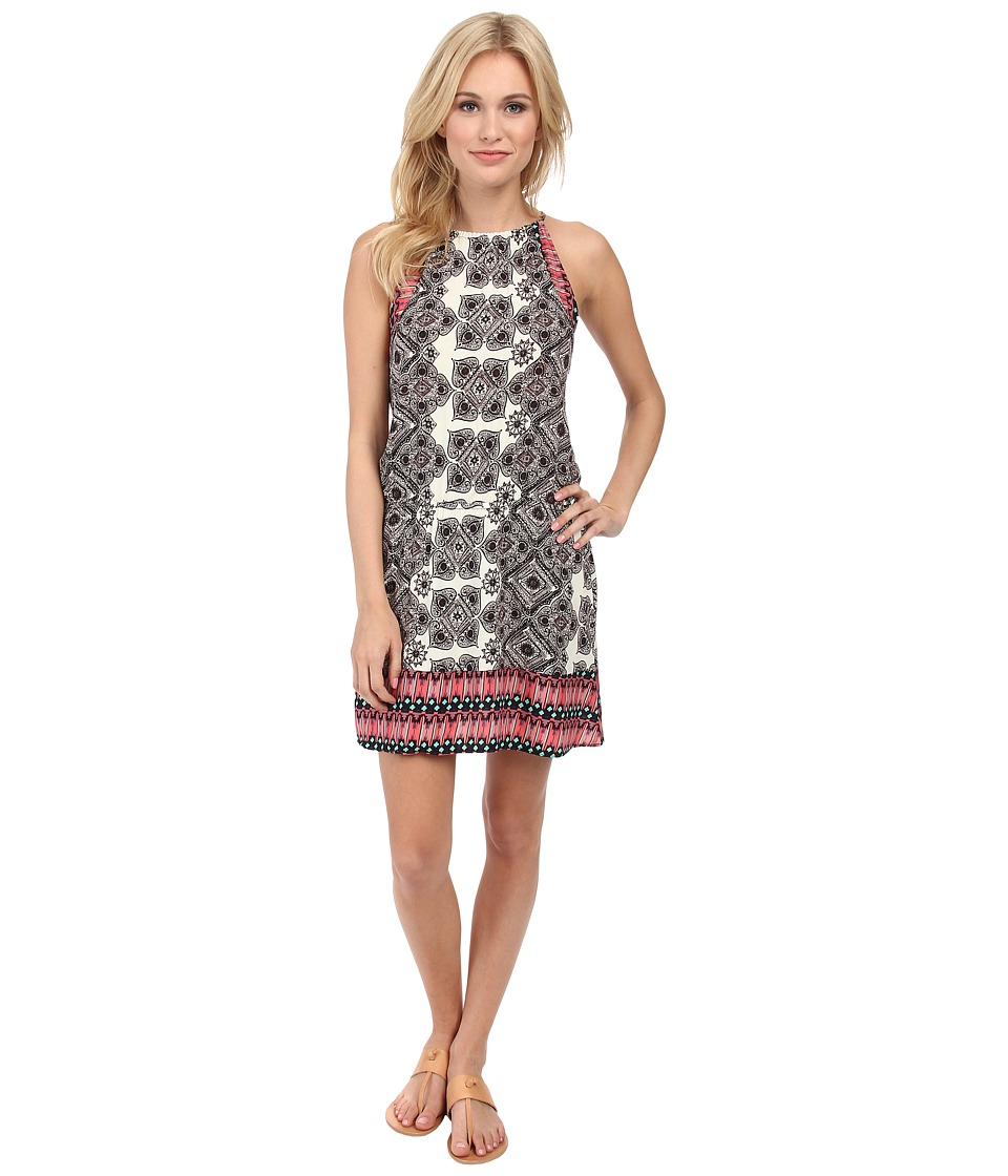 Michael Stars - Border Print Halter Dress (Ivory/Black) Women's Dress
