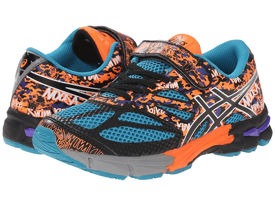 ASICS Kids - Gel-Noosa Tri 10 PS (Toddler/Little Kid) (Enamel Blue/Black/Orange) Boys Shoes