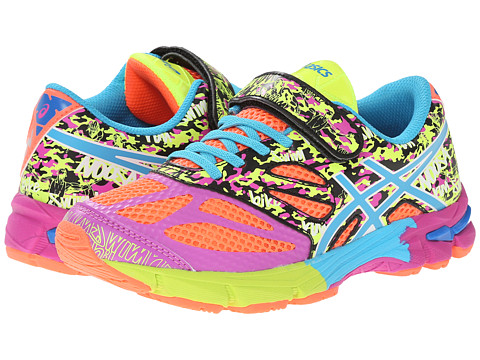 ASICS Kids - Gel-Noosa Tri 10 PS (Toddler/Little Kid) (Flash Coral/Turquoise/Pink Glow) Girls Shoes