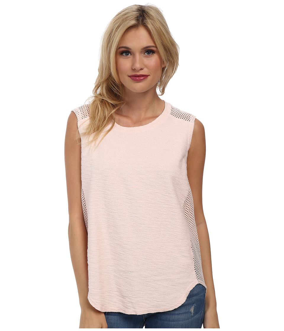 Michael Stars - Park Place French Terry Sleeveless Crew Neck Tank Top (Sweet Pea) Women's Sleeveless