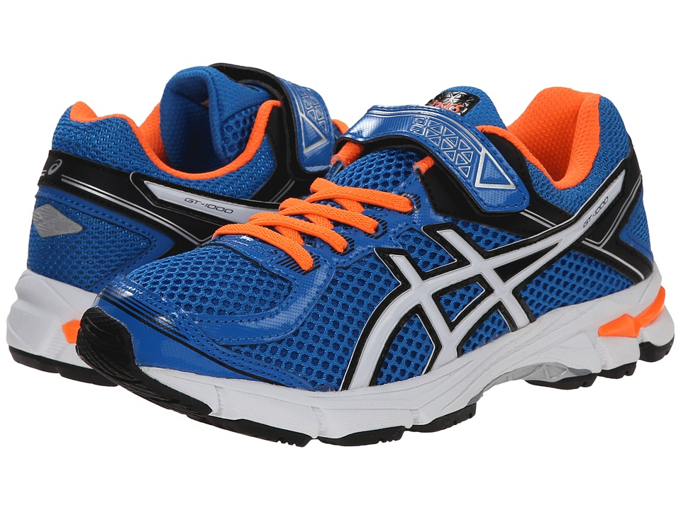 ASICS Kids - GT-1000 4 PS (Toddler/Little Kid) (Electric Blue/White/Orange) Boys Shoes