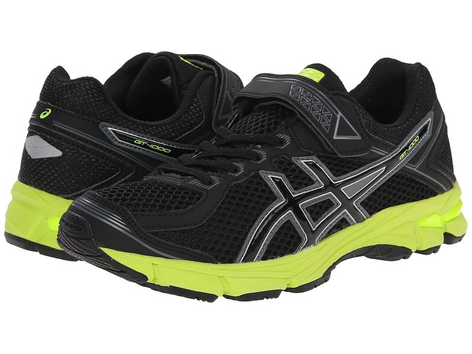 ASICS Kids - GT-1000 4 PS (Toddler/Little Kid) (Black/Onyx/Flash Yellow) Boys Shoes