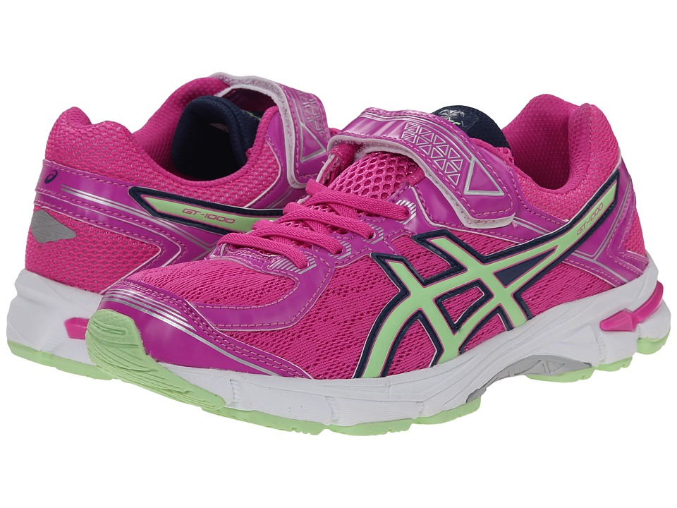 ASICS Kids - GT-1000 4 PS (Toddler/Little Kid) (Pink Glow/Pistachio/Indigo Blue) Girls Shoes