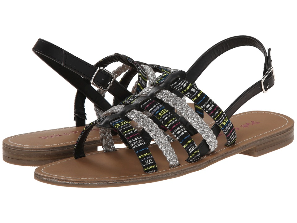 Pink & Pepper - Hippie (Black/Silver) Women's Sandals