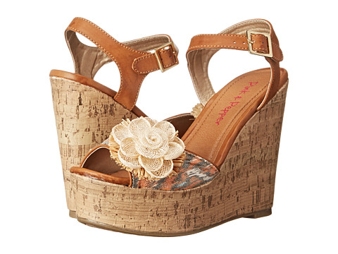 Pink & Pepper - Tialla (Orange/Sand Dune) Women's Wedge Shoes