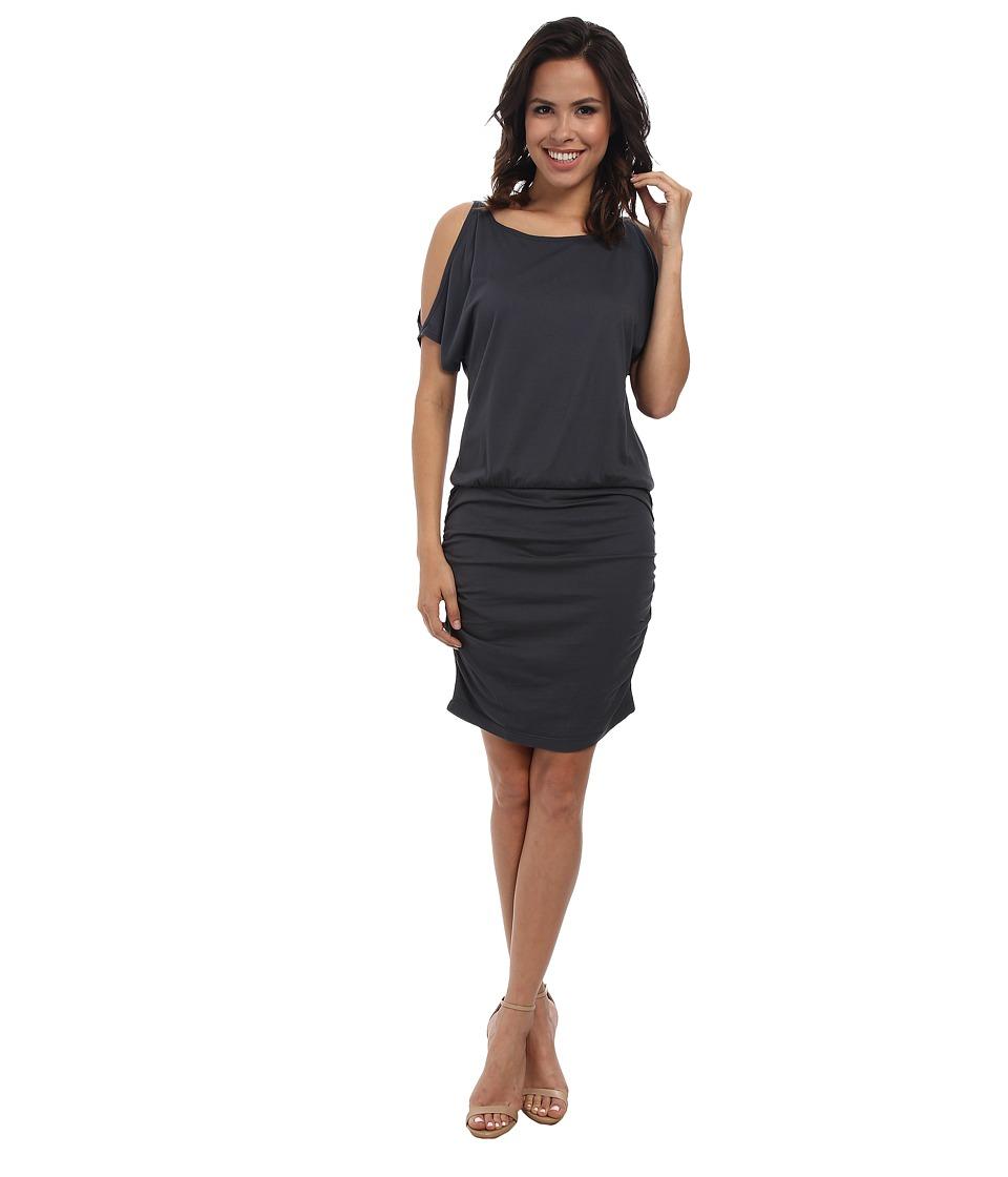 Michael Stars - Elbow Slit Sleeve Tee Dress (Oxide) Women's Dress