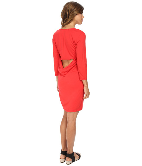 Michael Stars - 3/4 Sleeve Tee Dress (Tomato) Women's Dress
