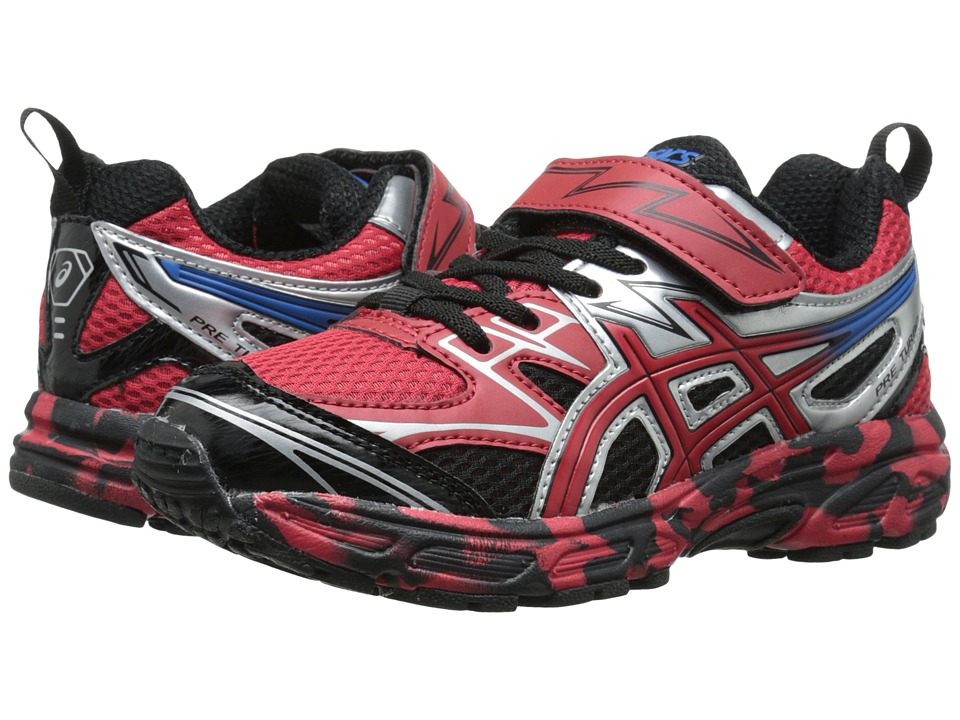 ASICS Kids - Pre-Turbo PS (Toddler/Little Kid) (Fiery Red/Black/Electric Blue) Boys Shoes