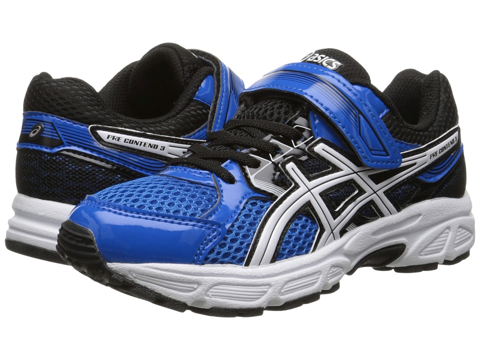 ASICS Kids - Pre-Contend 3 PS (Toddler/Little Kid) (Electric Blue/White/Black) Boys Shoes