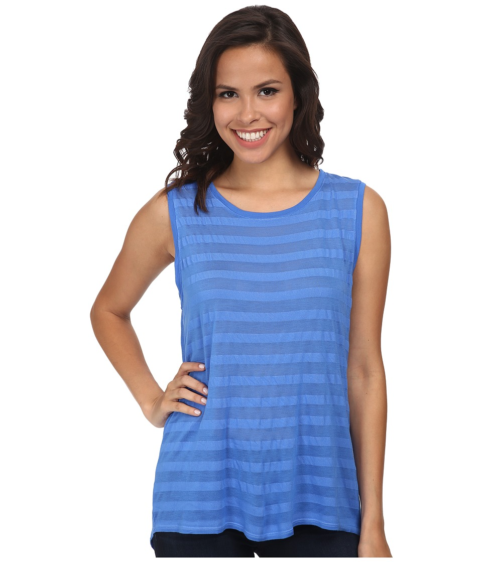 Michael Stars - Shadow Stripe Sleeveless Shell (Blue Ribbon) Women's Sleeveless