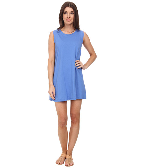 Michael Stars - Sleeveless Crew Neck Tee Dress (Blue Ribbon) Women