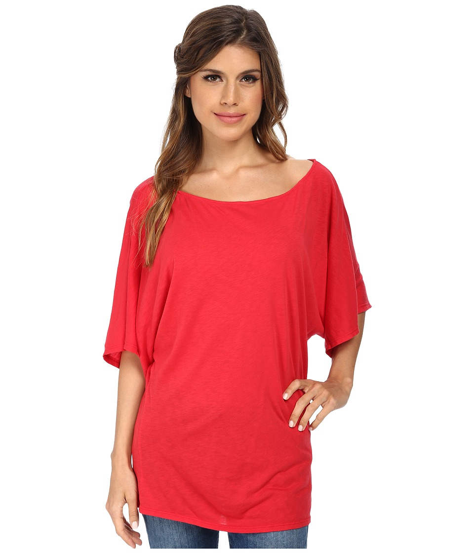 Michael Stars - S/S Slub Off-Shoulder Dolman (Tomato) Women