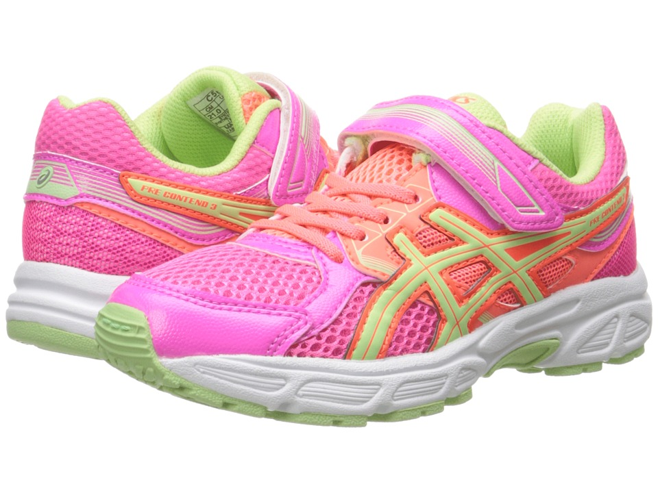 ASICS Kids - Pre-Contend 3 PS (Toddler/Little Kid) (Hot Pink/Pistachio/Hot Coral) Girls Shoes