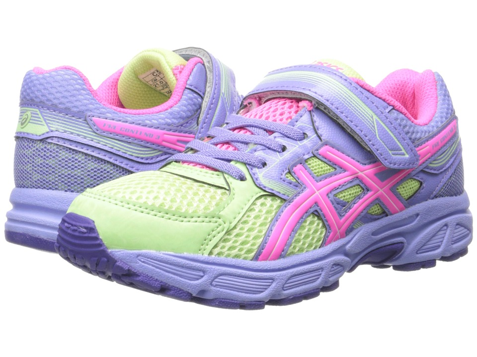 ASICS Kids - Pre-Contend 3 PS (Toddler/Little Kid) (Pistachio/Hot Pink/Lavender) Girls Shoes