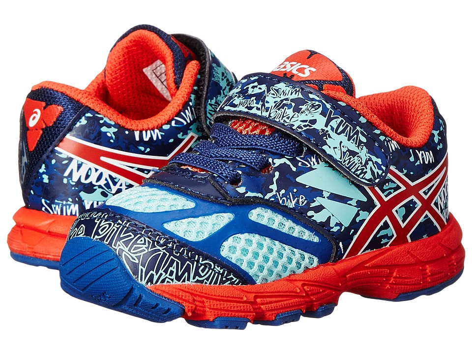 ASICS Kids - Gel-Noosa Tri 10 TS (Toddler) (Blue/Cherry Tomato/Aqua Splash) Boys Shoes