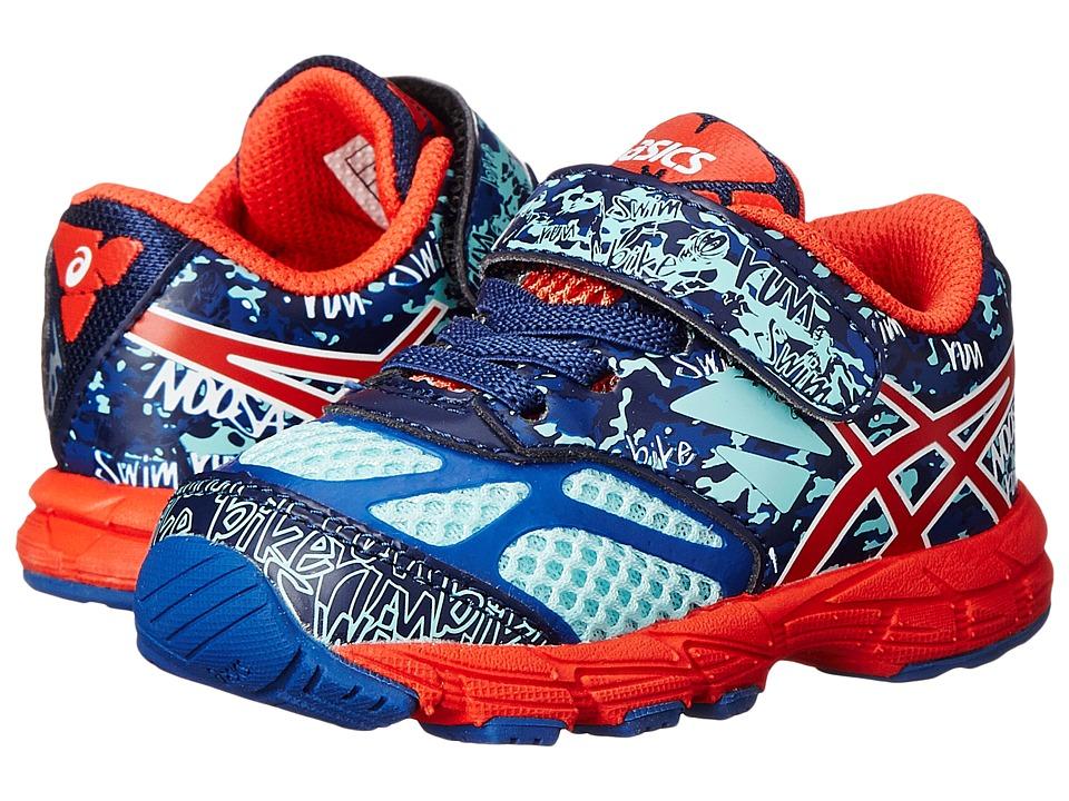 ASICS Kids - Gel-Noosa Tri 10 TS (Toddler) (Blue/Cherry Tomato/Aqua Splash) Boys Shoes