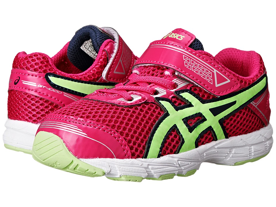 ASICS Kids - GT-1000tm 4 TS (Toddler) (Pink Glow/Pistachio/Indigo Blue) Girls Shoes
