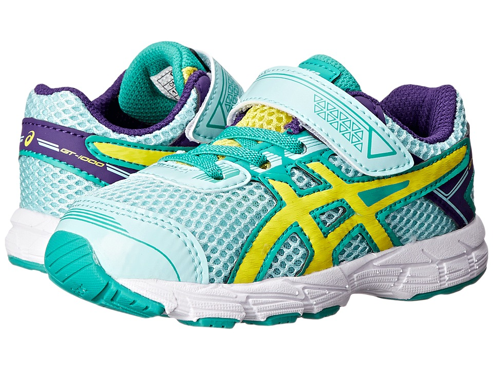 ASICS Kids - GT-1000 4 TS (Toddler) (Ice Blue/Flash Yellow/Emerald) Girls Shoes