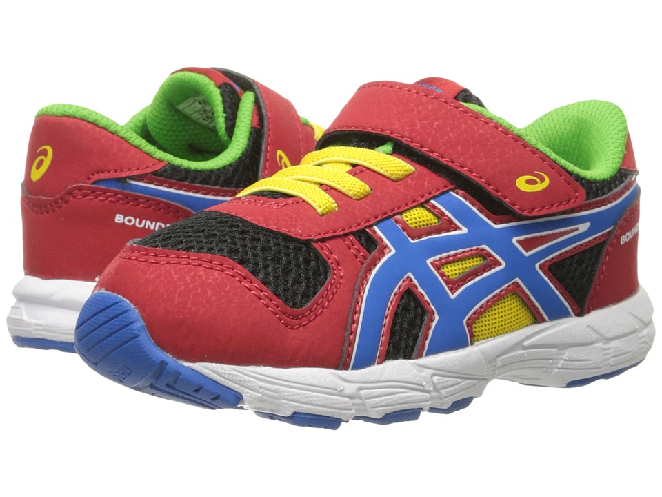 ASICS Kids - Bounder TS (Toddler) (Fiery Red/Blue/Black) Boys Shoes