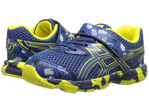 ASICS Kids - Turbo TS (Toddler) (Indigo Blue/Blue/Flash Yellow) Boys Shoes