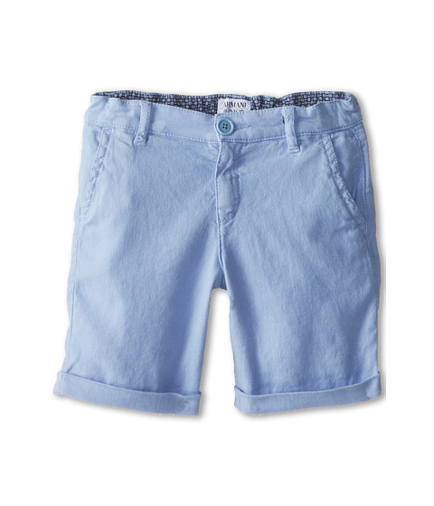 Armani Junior - Linen Short (Toddler/Little Kids) (Light Blue) Boy