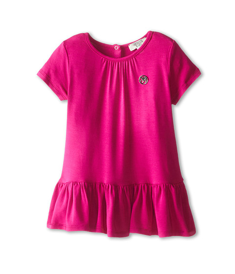 Armani Junior - Drop Waist Jersey Dress (Infant) (Fuchsia) Girl's Dress