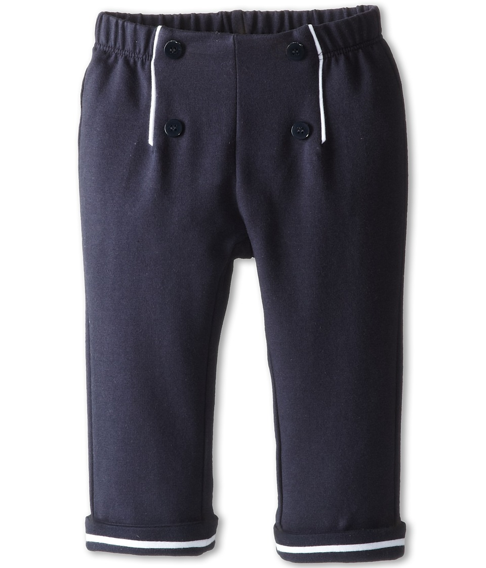 Armani Junior - Sailor Pant w/ Button Detail (Infant) (Indigo) Girl's Casual Pants