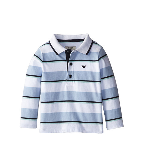 Armani Junior - Long Sleeve Stripe Polo Shirt (Infant) (Stripe) Boy
