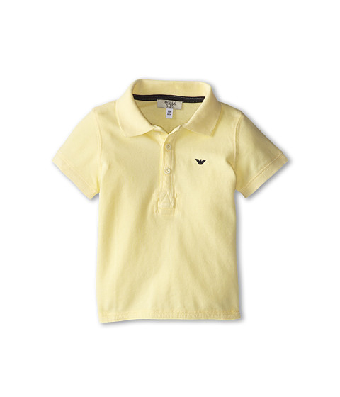 Armani Junior - Short Sleeve Polo Shirt (Infant) (Yellow) Boy's Short Sleeve Pullover
